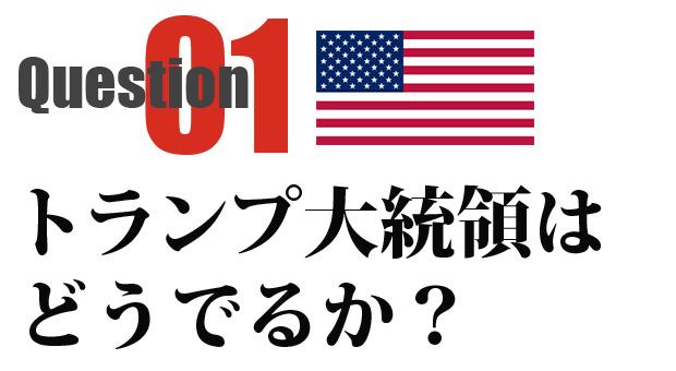 Chapter 01 臨戦態勢を敷くトランプ米大統領